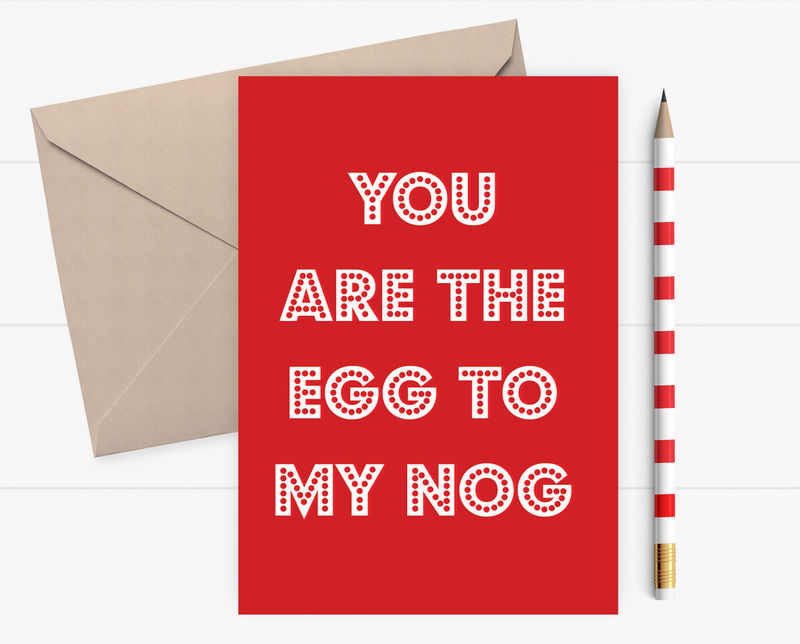 Funny christmas card you are the egg to my nog foodie card funny christmas card you are the egg to my nog foodie card card for husband wife boyfriend bespoke christmas card dickens ink m4hsunfo