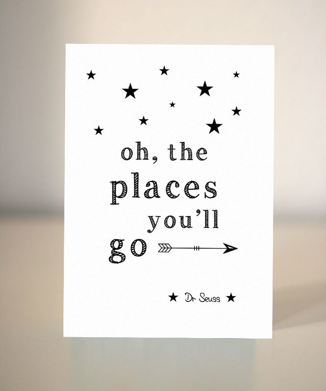 Oh The Places Youll Go Farewell Card Dickens Ink