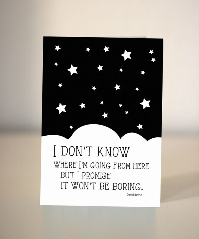 farewell card - david bowie quote