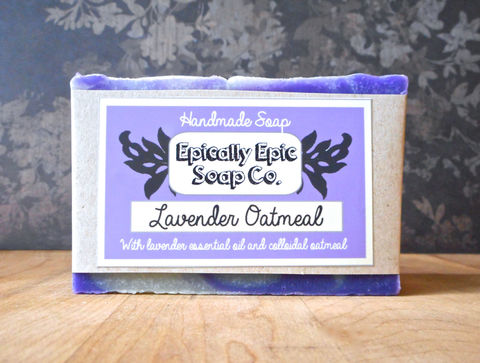 Lavender,Oatmeal,Cold,Process,Soap,-,Vegan,Natural,Fall,Collection,Extra,Large,Bar,Bath_And_Beauty,soap,cold_process_soap,handmade_soap,epically_epic_soap,soap_bar,homemade_soap,cp_soap,soap_gift,natural_soap,lavender_soap,swirled_soap,oatmeal_soap,soap_swirls,olive oil,organic palm kernel oil,castor oil,sodium hydroxide,water,coco