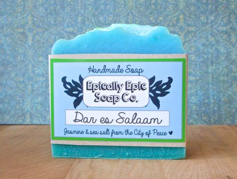 Dar,es,Salaam,Cold,Process,Soap,-,Vegan,Jasmine,and,Sea,Salt,Bath_And_Beauty,soap,cold_process_soap,handmade_soap,vanilla_soap,epically_epic_soap,cocoa_butter_soap,bar_soap,natural_soap,coconut_soap,cranberry_soap,winter_holidays,thanksgiving,christmas,olive oil,organic palm kernel oil,castor oil,sodium hydrox