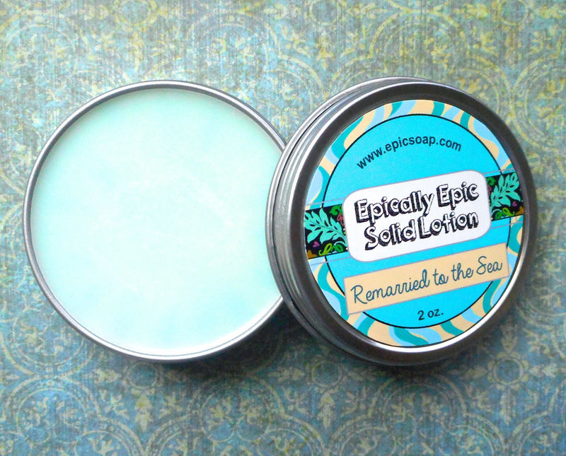 Remarried to the Sea Many Purpose Solid Lotion - Sea Salt, Lime, Coconut, Grapefruit, Seagrass - product image