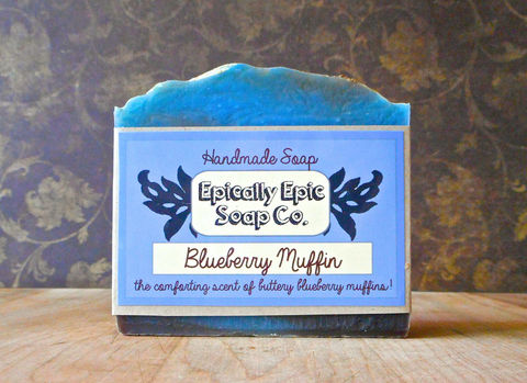 Blueberry,Muffin,Cold,Process,Soap,-,Vegan,Handmade,Bath_And_Beauty,soap,cold_process_soap,handmade_soap,epically_epic_soap,bar_soap,natural_soap,vegan_soap,apple_cider_soap,fall_collection,ice_cream_soap,autumn_soap,thanksgiving_soap,halloween_soap,olive oil,organic palm kernel oil,castor oil,sodium
