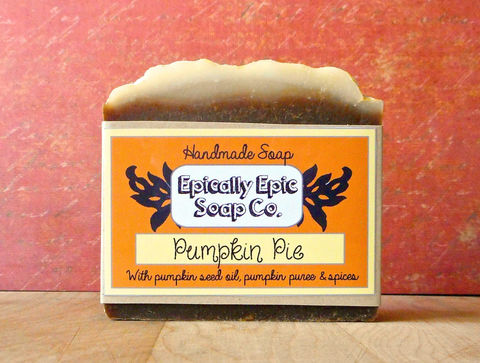 Pumpkin,Pie,Cold,Process,Soap,-,Vegan,Bath_And_Beauty,olive_oil,soap,cold_process_soap,handmade_soap,epically_epic,pumpkin_soap,pumpkin_pie,lye_soap,thanksgiving,holiday,pumpkin_pie_soap,fall_collection,olive oil,organic coconut oil,organic palm kernel oil,castor oil,fragrance,organic pu