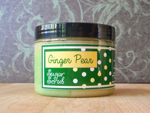 Ginger,Pear,Sugar,Scrub,-,8,oz,Limited,Edition,Winter,Holidays,Scent,Bath_And_Beauty,Soap,sugar_scrub,body_scrub,natural_scrub,exfoliating_scrub,vegan_sugar_scrub,parfait_sugar_scrub,epicallyepicsoap,fall_collection,ginger_pear,ginger_ale_scrub,moisturizing_scrub,shea_butter_scrub,autumn_fragrance,cane sugar,turbinado suga