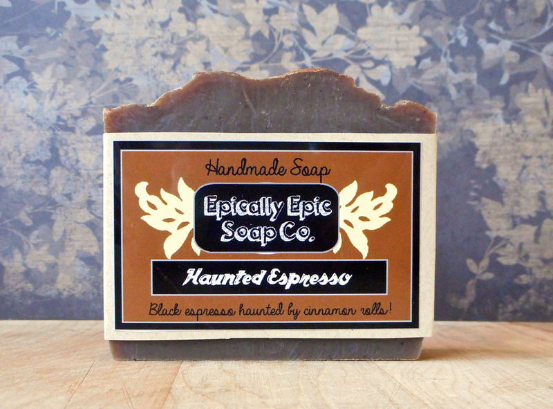 Haunted Espresso Cold Process Soap - Vegan - Fall and Halloween Soap - product images  of