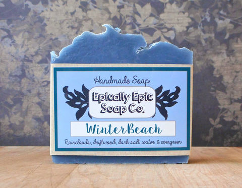 Winter,Beach,Cold,Process,Soap,-,Vegan,Handmade,Bath_And_Beauty,soap,cold_process_soap,handmade_soap,epically_epic_soap,bar_soap,natural_soap,vegan_soap,winter_soap,clean_scent_soap,gift_soap,aquatic_scent,ocean_soap,sea_soap,olive oil,organic palm kernel oil,castor oil,sodium hydroxide,water,frag