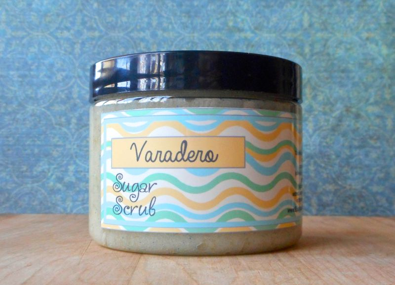 Varadero Sugar Scrub - 8 oz - Limited Edition Island Heart Scent - White lily, saltwater, verbena, clean laundry - product images  of