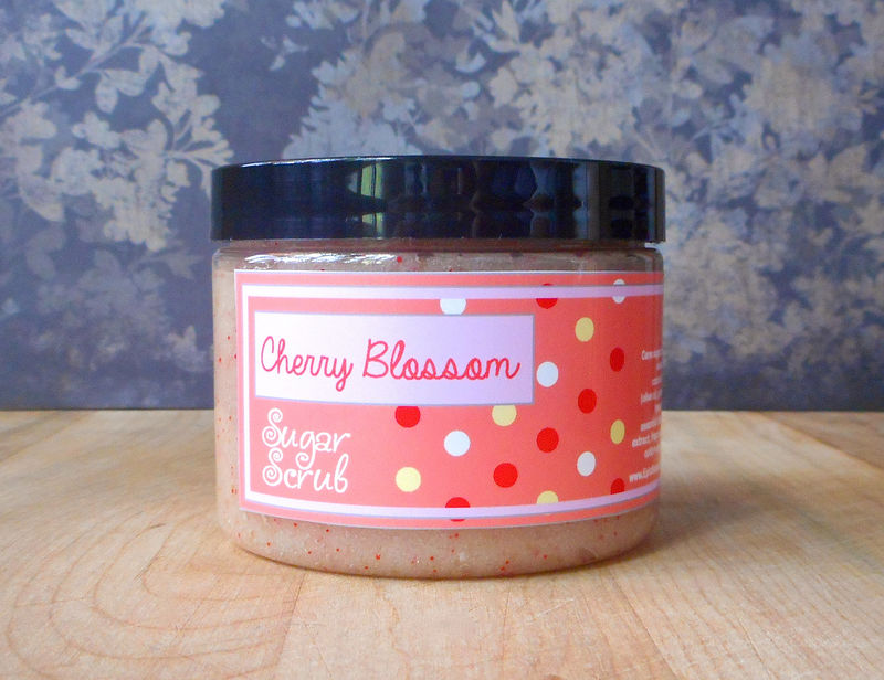 Cherry Blossom Sugar Scrub - 8 oz - Limited Edition Sweet Summer Scent - product images  of