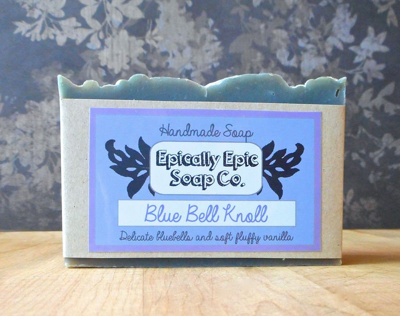 Blue Bell Knoll Cold Process Soap - Vegan Handmade Soap - product images  of