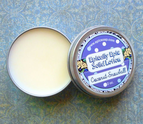 Coconut,Snowball,Many,Purpose,Solid,Lotion,-,Limited,Edition,Halloween,and,Fall,Scent,Bath_And_Beauty,hand_cream,body_butter,lotion_bar,epically_epic,solid_lotion,vegan_lotion,fall_collection,autumn_scent,halloween_lotion,cuticle_butter,coconut_scent,coconut_perfume,coconut_mint,macadamia butter,jojoba,candelilla wax,coconut oil,olive squa