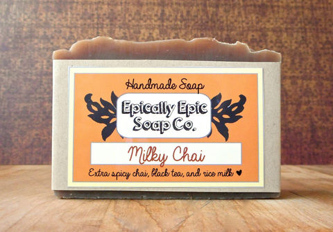 Milky,Chai,Cold,Process,Soap,-,Vegan,Fall,Collection,Bath_And_Beauty,olive_oil,soap,cold_process_soap,handmade_soap,epically_epic,lye_soap,thanksgiving,holiday,fall_collection,chai_tea_soap,tea_soap,bar_soap,fall_spice_scent,olive oil,organic palm kernel oil,castor oil,fragrance,cinnamon,cloves,mineral