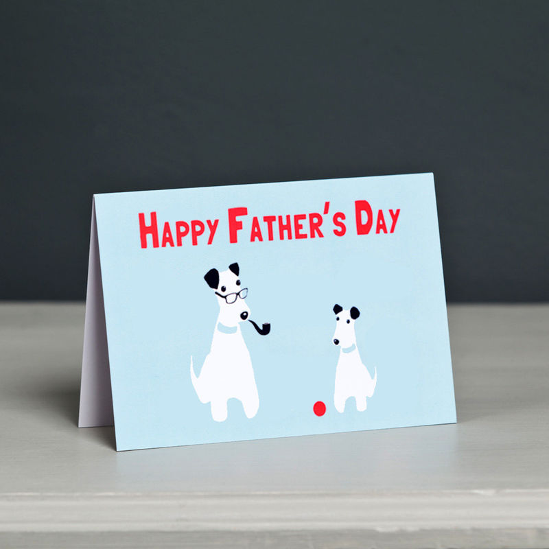 Terrier Father's Day Card - product image