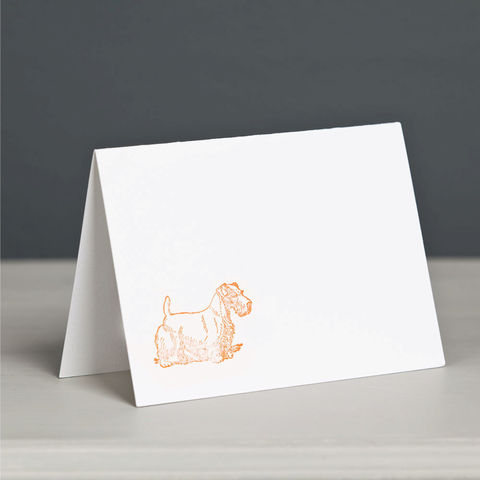 Sealyham,Terrier,Letterpress,Card,Sealyham Terrier Card, Dog Letterpress Card, Terrier Letterpress Card
