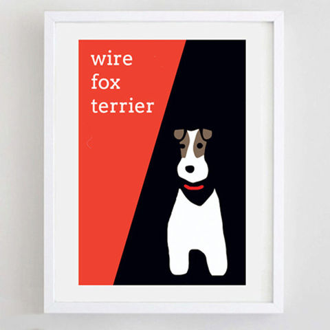 Wire,Fox,Terrier,Print,Wire Fox Terrier Print, Personalised Fox Terrier Print
