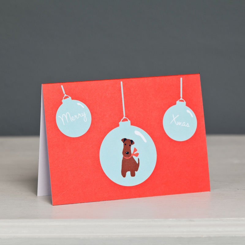 Irish Terrier Christmas Card  - product image