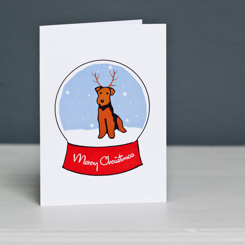 Welsh,Terrier,Snowglobe,Christmas,Card,Welsh Terrier Rescue, Welsh Terrier Christmas Card, Welsh Terrier Card