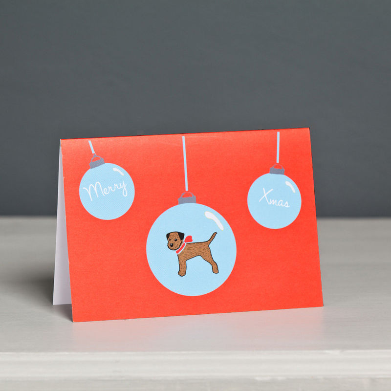 Border Terrier Christmas Card  - product image