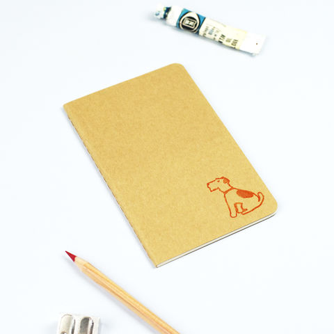 Orange,Terrier,Moleskine,Notebook,Terrier Moleskine Notebook, Dog Notebook, Dog Journal, Moleskine Cahier, Terrier Notepad