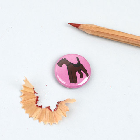 Airedale,/,Welsh,Terrier,Badge,Airedale Badge, Airedale Pinback Button, Welsh Terrier Badge, Welsh Terrier Button