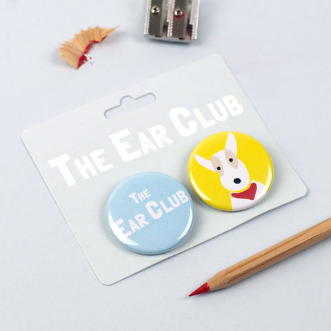 The,Ear,Club,Badges,Fox Terrier Badges, Wire Fox Terrier Badges, Fox Terrier Pinback Buttons, The Ear Club