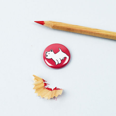 West,Highland,Terrier,Badge,Westie Badge, Westie Button, Westie Pinback Button, West Highland Terrier Gift, Dog Badge