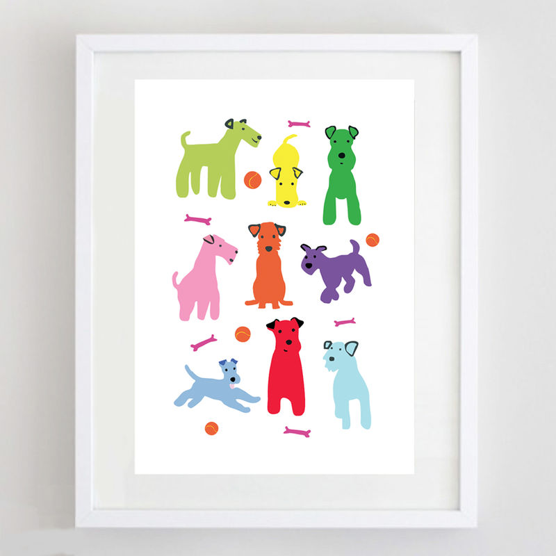 Colourful Dogs Print - product image