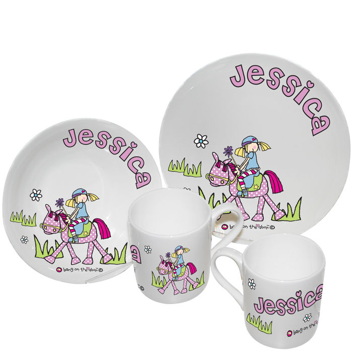 Bang on the Door Pony Girls Breakfast Set - product images of  sc 1 st  Personalised Childrens Gifts   childrenandbabygifts.co.uk & Bang on the Door Pony Girls Breakfast Set - Children and Baby Gift ...
