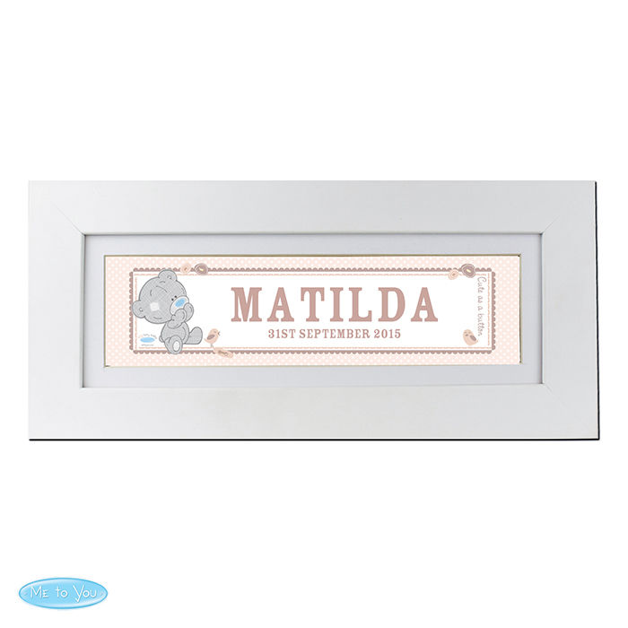 Tiny Tatty Teddy Name Frame - Customised Baby Gifts ...