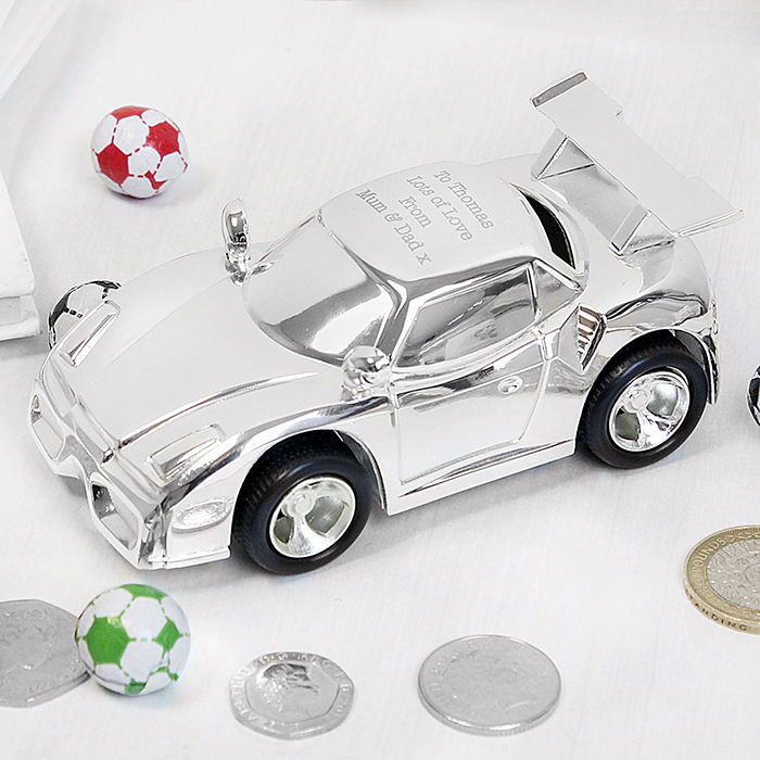 Racing Car Money Box Childrens Gifts Baby Gifts