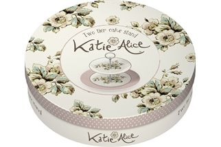 Katie,Alice,Cottage,Flower,2,Tier,Cake,Stand,Katie and Alice, Cake Stand, Christmas, Gifts