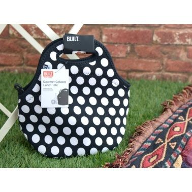 BUILT Gourmet Getaway Lunch Tote Big Dot Black - product images  of