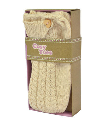 Cosy,Toes,Cream,Knitted,Ankle,Slipper,Socks,Cosy Toes, Fluffy Socks, Gifts, Christmas Gifts
