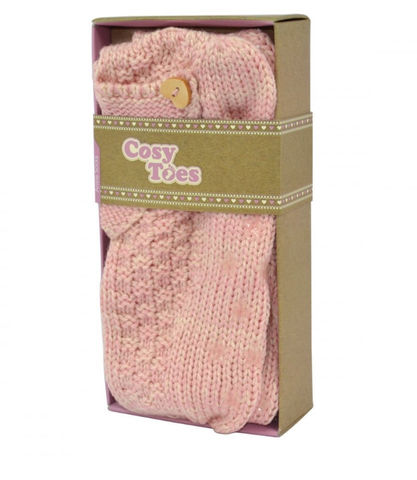 Cosy,Toes,Pink,Knitted,Ankle,Slipper,Socks,Cosy Toes, Fluffy Socks, Gifts, Christmas Gifts
