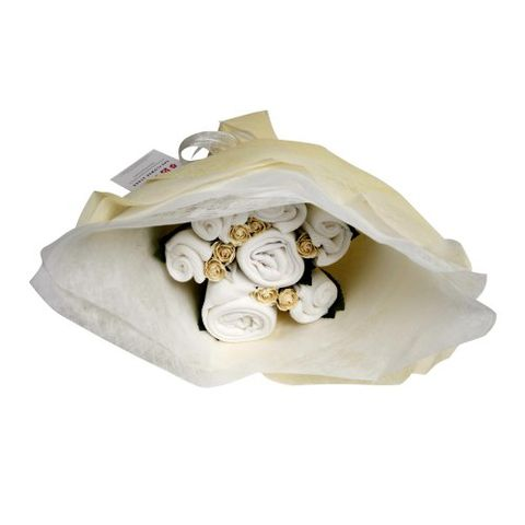 Welcome,Bouquet,Classic,White,Baby Gifts, Gifts for New Born, New Arrival Gifts