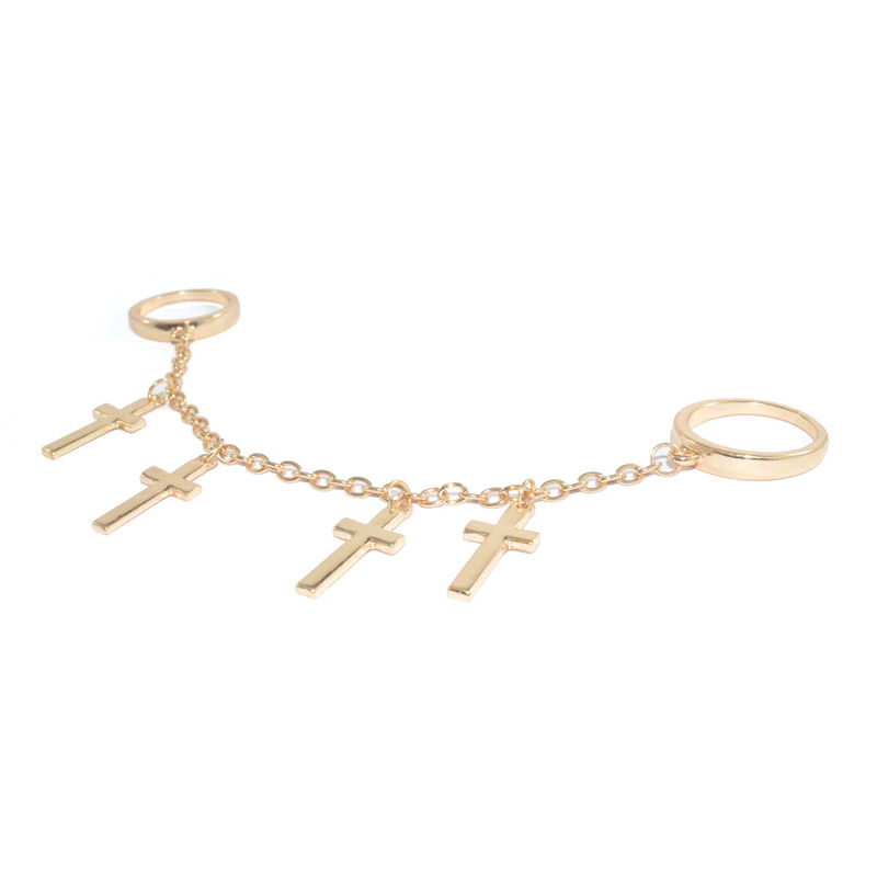 CROSS CHAIN WITH DOUBLE RING - product image