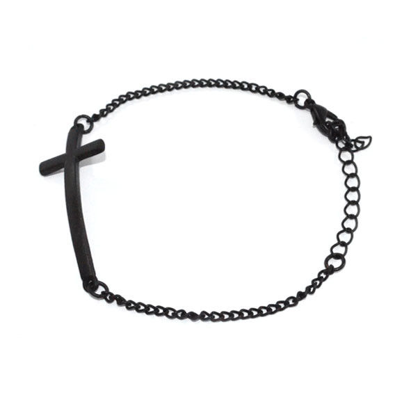 METALLIC CROSS BRACELET - product image