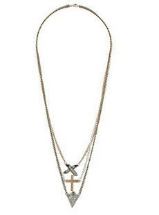 CROSS AND CRYSTAL MULTI PACK NECKLACE - product image