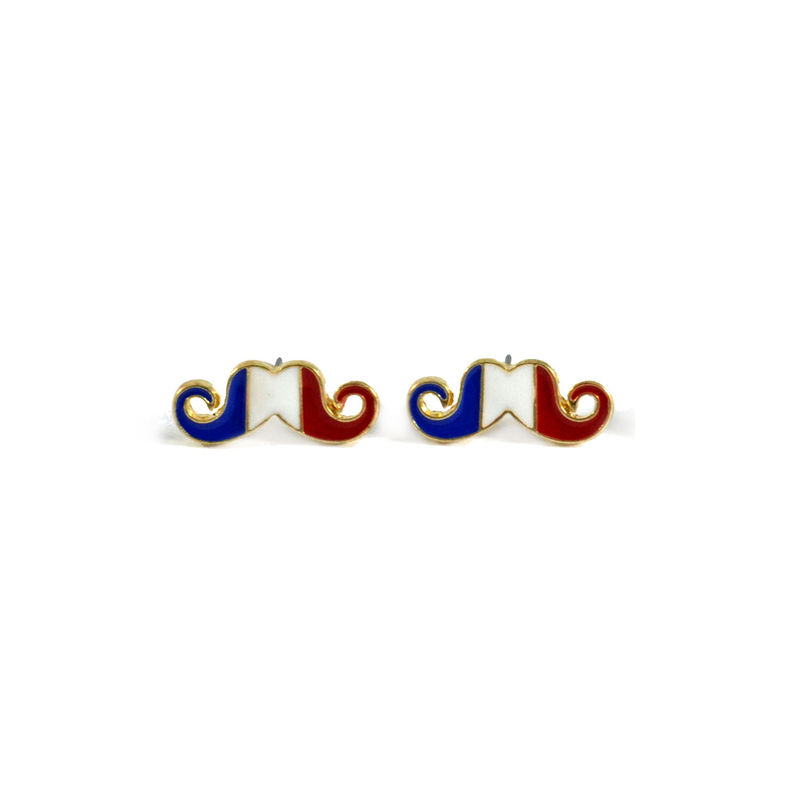 COUNTRY FLAG MOUSTACHE EARRINGS - product image