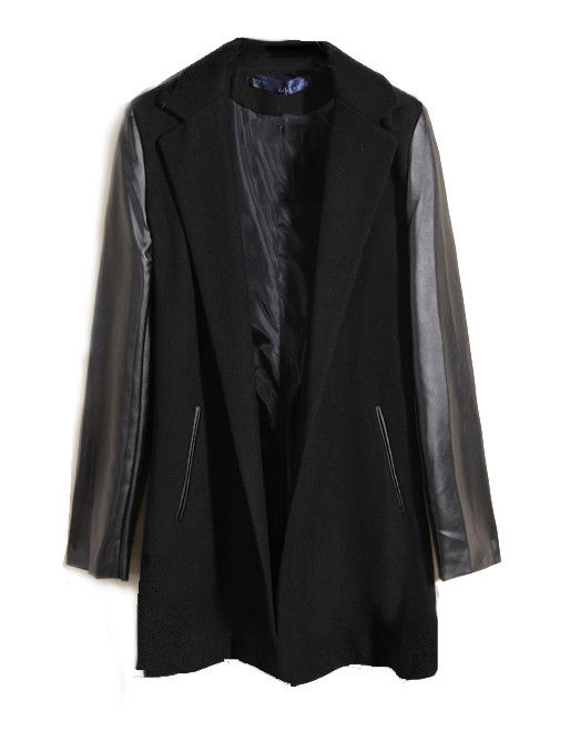 CONTRAST SLEEVE COAT - product image