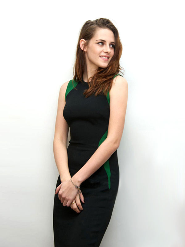 CONTRAST GREEN DRESS - product image