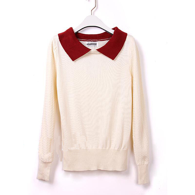 111 CONTRAST COLLAR JUMPER  - product image