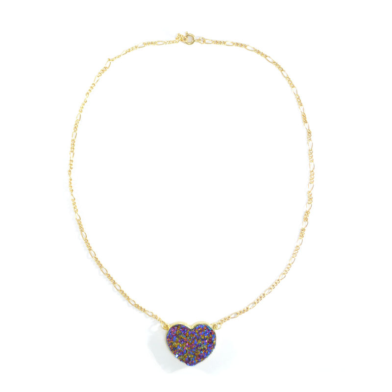 COLOURFUL CRYSTAL HEART NECKLACE - product image
