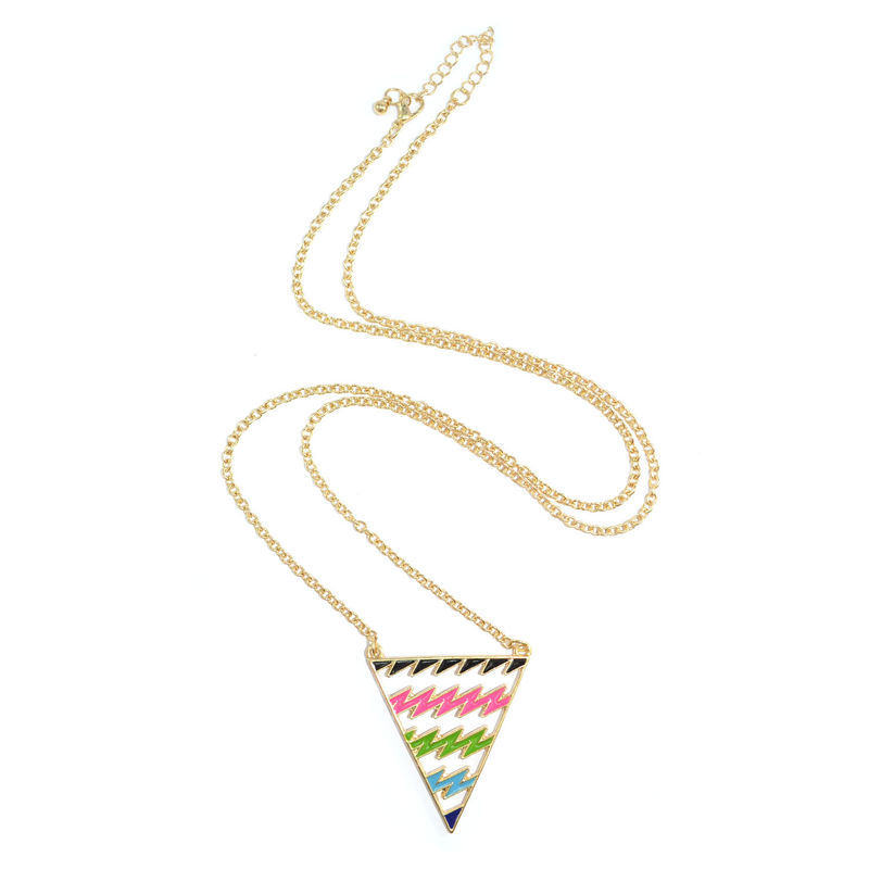 COLOURFUL BOLT TRIANGLE NECKLACE - product image