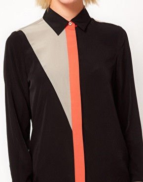 COLOUR PLACKET SHIRT BLACK - product image