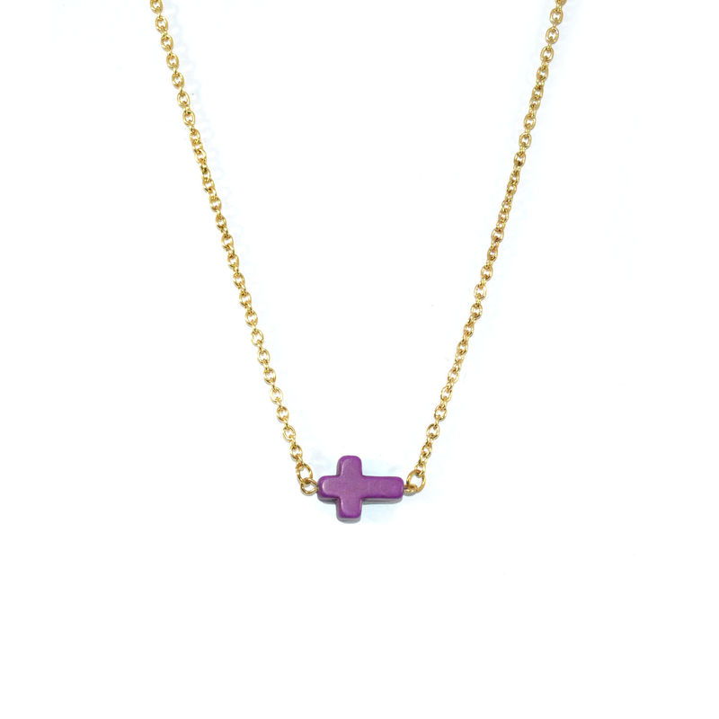 COLOUR CROSS NECKLACE - product image