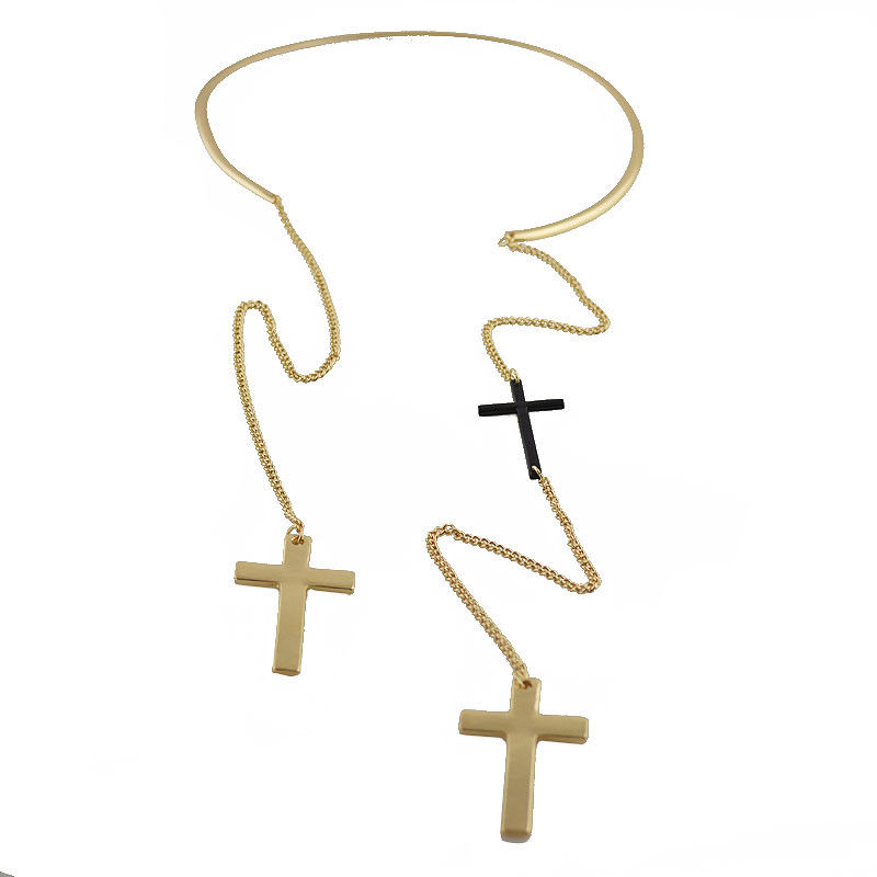 COLLAR CROSS NECKLACE - product images