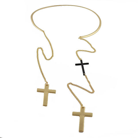 COLLAR,CROSS,NECKLACE