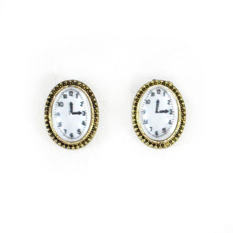 CLOCK,EARRINGS