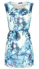 CHINA,FLORAL,BLUE,DRESS